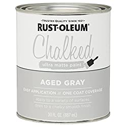 cheap Rust-Oleum, Aged Gray 285143 Ultra Matte Coating Interior Paint 30 oz, 30 oz Can