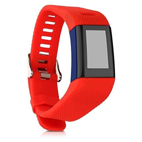 kwmobile Pulsera Compatible con Garmin Vivosmart HR Plus/Approach X40 - Brazalete de Silicona en Rojo sin Fitness Tracker