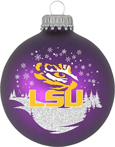 LSU Tigers Glass Ornament