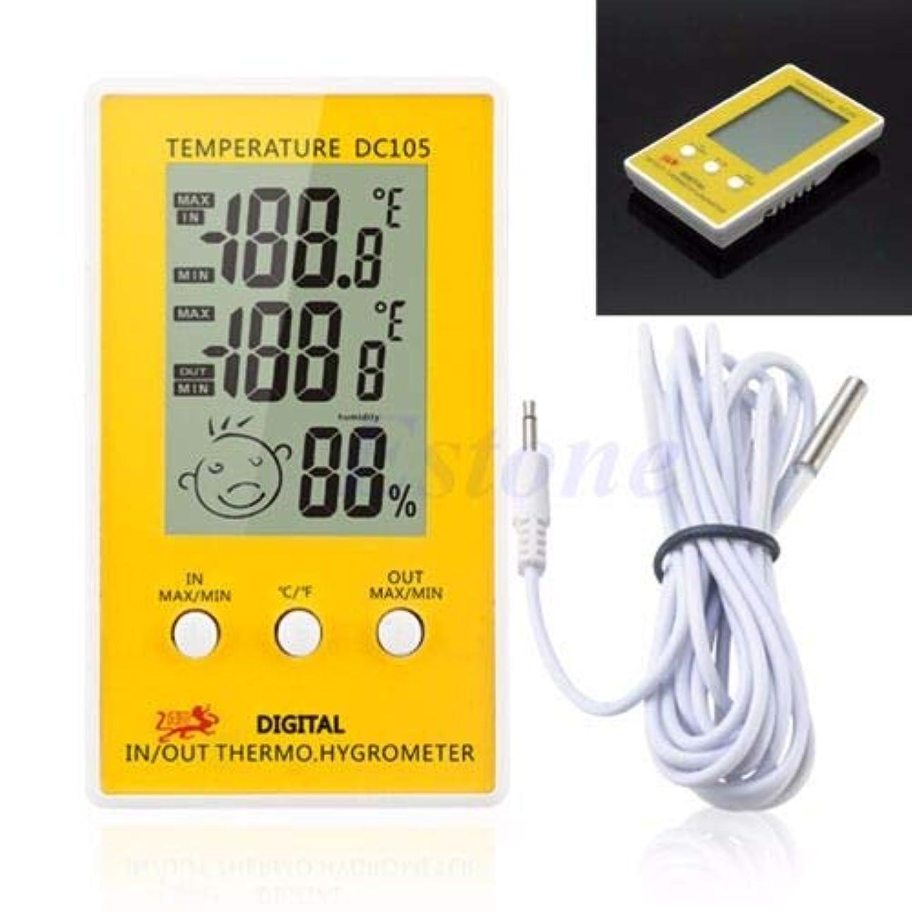 孤独な質量知恵ZoCenterShop(TM) デジタルLCD屋内屋外湿度湿度計温度計メータープローブケーブルC/F