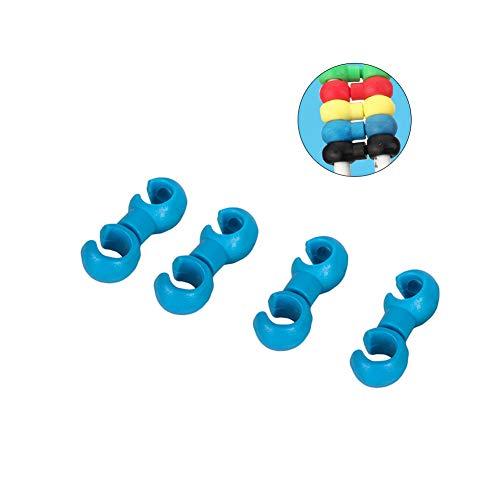 Extrbici Fahrradschnalle, 4 Stück, Fahrrad-Bremsschnalle, Schaltwerk, Kabelschlauch, Fahrradzubehör für MTB Road, faltbares Elektro-Stadt-Fahrrad, ex-line buckle-blue, blau