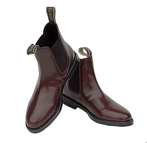 Rhinegold Unisex Jodhpur Boots Jodhpurstiefel Comfey Classic, Oxblood, Size 9 (EU 43)