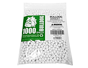 BULLDOG AIRSOFT- [1000 Airsoft Pellets [0.20g] Biodegradable [6mm White] Triple Polished [Pro Team Grade]