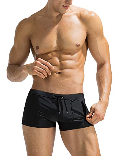 COOFANDY Mens Swim Short Swimming Brief Fashionable Slim Fit Swimsuit Boardshort