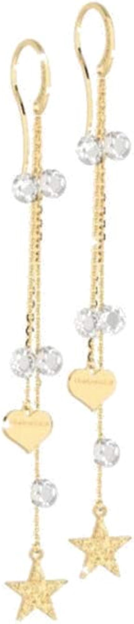 Rebecca orecchini donna in argento gold pietre gialle SLCOOB12