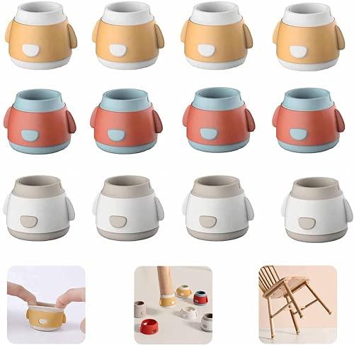 Silicone Chair Leg Caps - Non-slip Silicone Chair Leg Floor Protectors, Cute Cartoon Chair Leg Caps Furniture Table Feet Pads Covers,Prevent floor scratches & reduce noise (24)