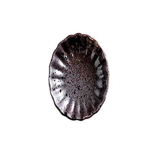 N\C Condimento Crisantemo Plato Creativo Hogar Plato de Comedor Mostaza Mariposa Condimento Vajilla Cerámica Esmalte de Té
