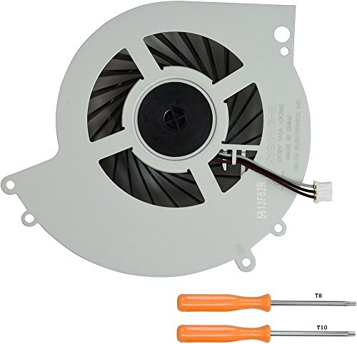 Rinbers Internal CPU GPU Cooling Cooler Fan Replacement Part for Sony Playstation 4 PS4 CUH-1215A CUH-12XXA Series Console 500GB KSB0912HE with Tool Kit