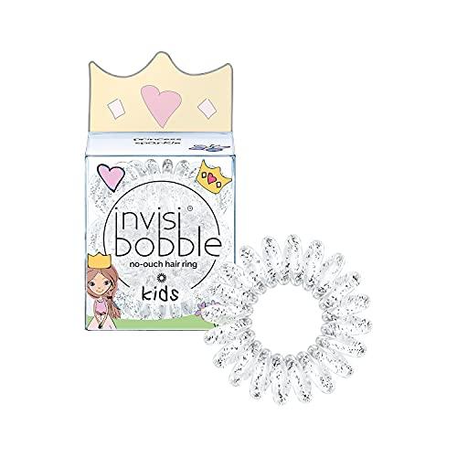 Invisibobble Kids elastique cheveux fille scintillant Princess Sparkle x3 I Chouchou cheveux fille en spirale I Accessoire cheveux fille sans douleur