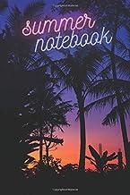 Summer Notebook Summer Night in Tropics: Motivational Notebook, Journal, Diary (Four Seasons Notebooks)