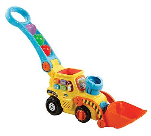 VTech Excavadora bebé interactiva expulsa y recoge las bolas para aprender los de colores (3480-506022) , color/modelo surtido