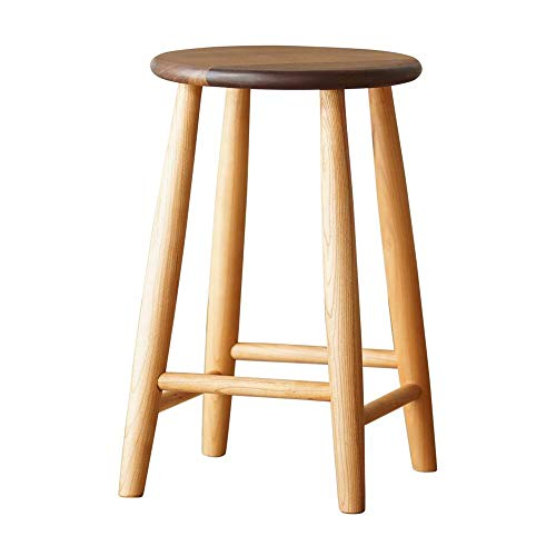 YUMEIGE-SIDE TABLE Solid Wood Dressing Stool, Bedroom Dresser Chair, Black Walnut Wood, Makeup Bench Dressing Stool, Stool With Rubberwood Legs (Color : Wood, Size : 10.23 * 10.23 * 16.33in)