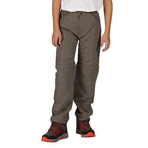 Regatta Pantalon Technique Junior SORCER II léger avec Jambes dézipables, Zones réfléchissantes et Poches Multiples Trousers Mixte Enfant, Tree Top, FR : 3XL (Taille Fabricant : 13 YR)