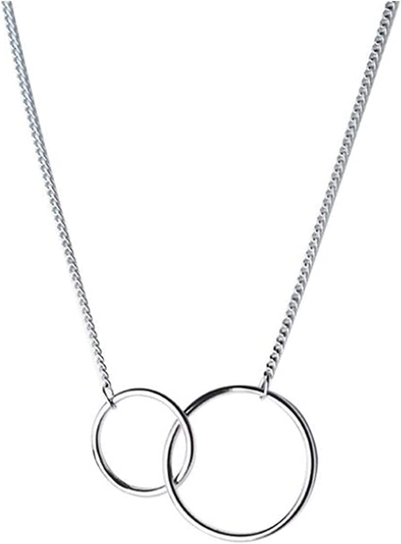 ZCPCS 925 Sterling 2021 Silver Exquisite Clavicle Double Circle shipfree Chain