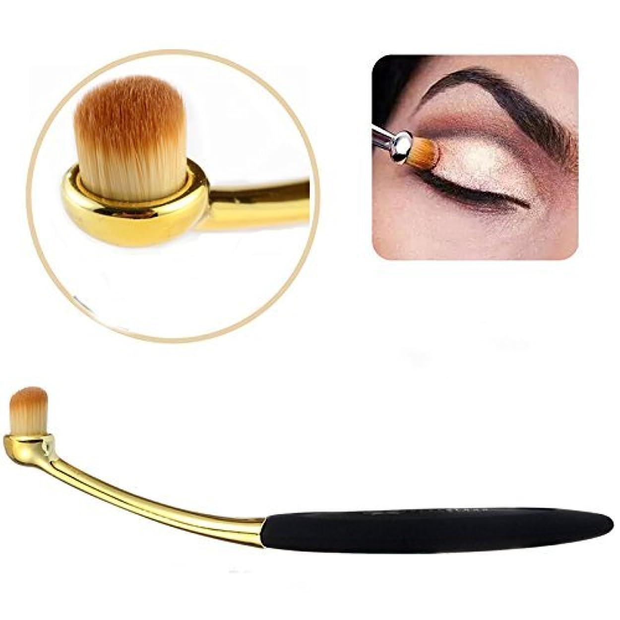 情報商業のナースNeverlnad Beauty 歯ブラシ型 アイシャドー、リップ、アイブローブラシ 化粧ブラシ メイクブラシ ゴールド&ブラック 1本
