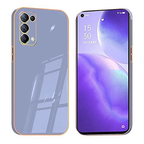 Compatible con OPPO Find X3 Lite silicona TPU, Smartphone Oppo Find X3 Lite Funda Verde, Funda OPPO Find X3 Lite Funda blanda (Violeta 2, Oppo Find X3 Lite)