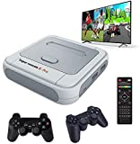 Whatsko Consola Retro Super Console X Pro,128GB con 41000 Juegos+2 Gamepad, 1280x720 FHD Mini Consola de Videojuegos, Wifi Arcade Consola Retro Multijugador con HDMI/AV
