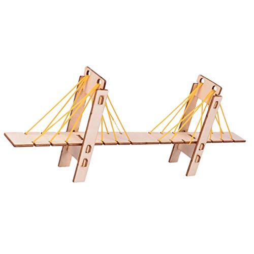 sharprepublic Holzkabel Blieb Brücke DIY Kit Physik Pädagogische Experimente Modell Spielzeug Mit Baumwollseilen Für Kinder Kinder Jugendliche