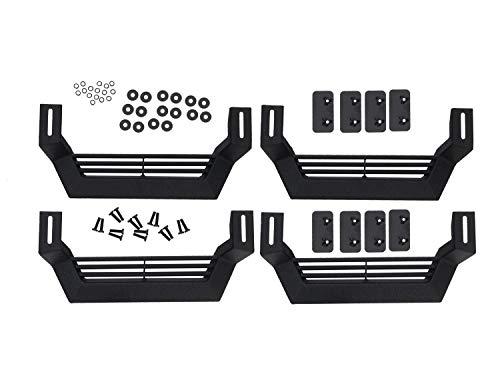 Rampage Products 26410020 Rock Rail Short Steps, Black Steel, 4-Piece Set