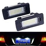 Luces de coche For accesorios del coche E39 E70 E71 X5 X6 M5 E60 E90 E92 E93 M3 de licencia de la lámpara 2pcs / set de error blanca número gratuito 18SMD LED Luces de la matrícula Asambleas luz del c