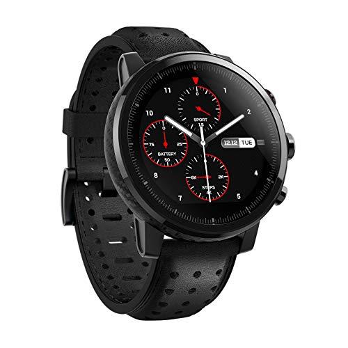 Xiaomi Amazfit Stratos 2S- Smartwatch Multisport, Bisel de cerámica pulida, Cristal de zafiro 2.5D, Resistente al agua hasta 50 metros, VO2 max, hasta 5 días de batería, Bluetooth, diseño premium
