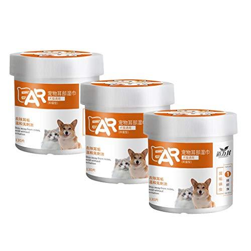 Gazechimp 130 Piezas de Almohadillas Quitamanchas de Lágrimas para Perros Y Gatos Blancos Toallitas de Aseo Suaves para Mascotas 100 Almohadillas de Lujo Toalli