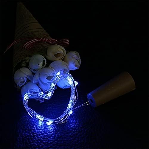 Luces Decorativas Segura cómodo y duradero tiene múltiples usos 20leds 2M LED luces solares Powered forma de botella de vino del corcho LED Hada de cobre Garland adorno alambre cadena luces de Navidad