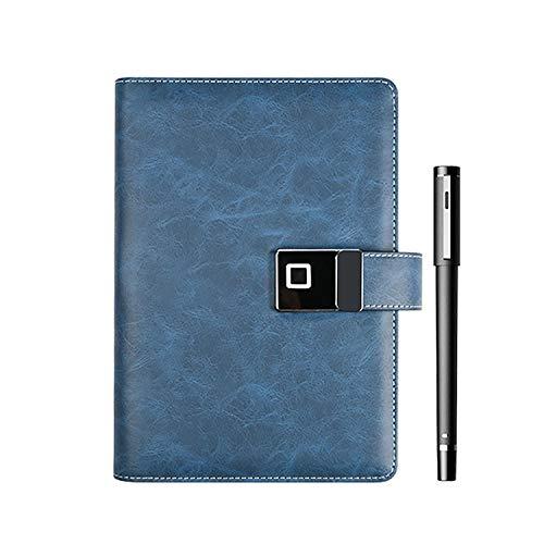 Cuaderno De Negocios Inteligente Con Bluetooth, Cuaderno Con Bloqueo De Contraseña De Huellas Dactilares, Cuaderno De Grabación De Carga Inalámbrica, Disco Magnético En U De 16G, Lápiz Inteligente