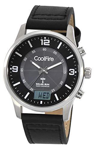 Solar atomic i aviator solar power radio controlled watch by coolfire (1067b)