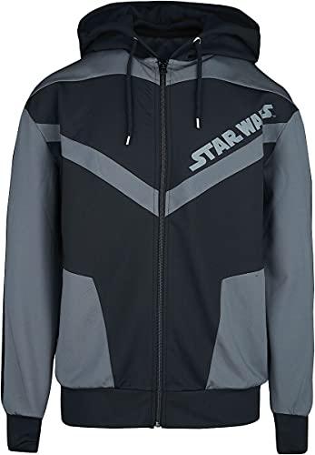 Star Wars Darth Vader Hombre Capucha con cremallera negro/gris XXL, 80% poliéster, 20% elastán, Regular
