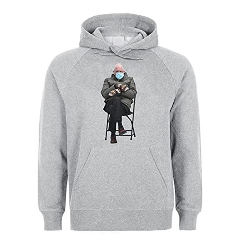 Bernie Sanders Unisex Hoodie Sweatshirt Pullover Grey XL