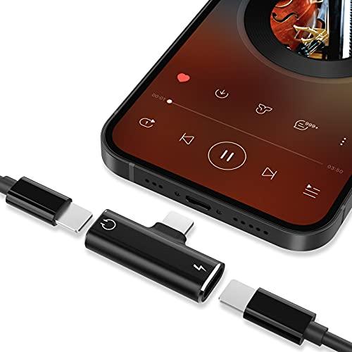 Adaptador Jack, 3 en 1 Adaptador Jack para Auriculares para i0S/Phone, Compatible con Phone 12/12 Pro/11/X/XR/8/7, Plug y Play