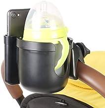 Getränkehalter für Kinderwagen Buggy, ManK Universal Fahrrad Flaschenhalter mit Handyhalterung, 2-in-1Becherhalter für Trinkflaschen Babyflasche Nuckelflaschen Kaffeebecher
