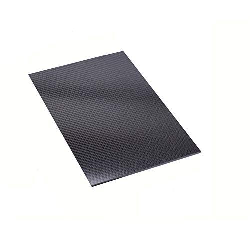 SOFIALXC Carbonfaserplatte 100% 3K Matte Oberfläche L Carbonplatte Laminat für DIY CNC bearbeitete Teile,200x500mm,1mm