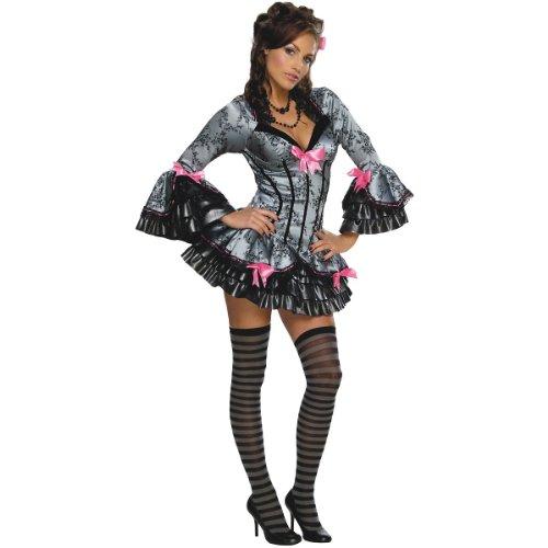 Damen Kostüm French Kiss Kleid Kostüm Burlesques, Größe:S 36/38