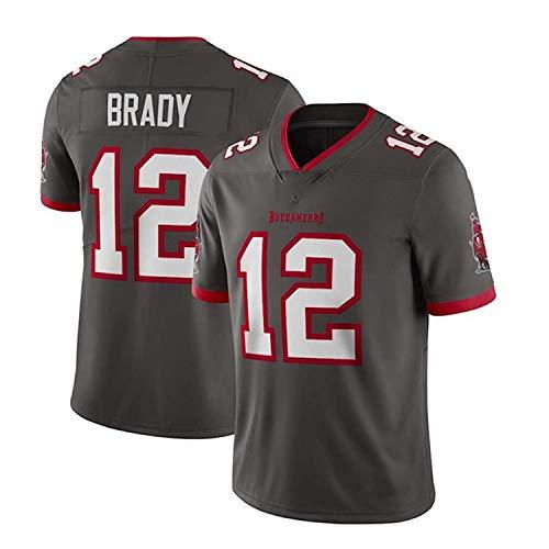 LAVATA Männer Rugby Jersey Fußball-T-Shirt Tampa Bay Buccaneers 12# Tom Brady Unisex Rugby Uniform Fans T-Shirts Print Top Kurzarm Für Männer