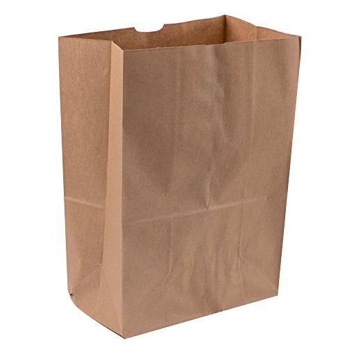 Duro Heavy Duty Kraft Brown Paper Barrel Sack Bag, 57 Lbs Basis Weight, 12 x 7 x 17, 25 Ct/Pack, 500 Pack