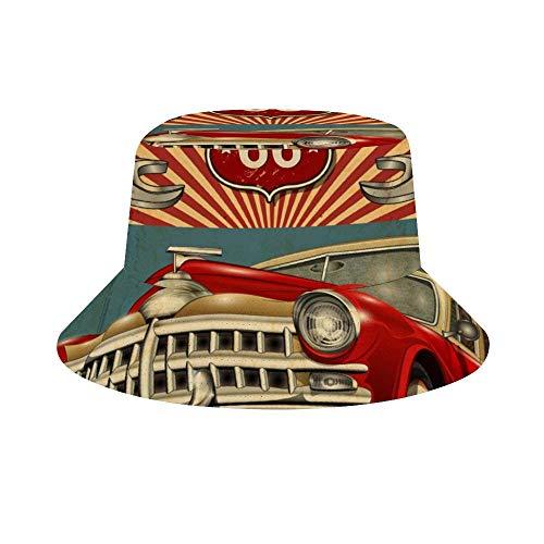 CODOYO Chapeaux de Seau Chapeau de Soleil de Plage réglable de Garage de Voiture Vintage pour la Protection Contre Le Soleil