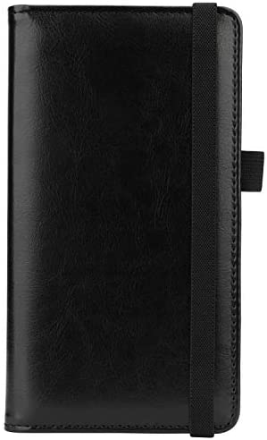 Checkbook Cover for Women Men Microfiber Leather Check Book Holder Wallet 4 Black product image