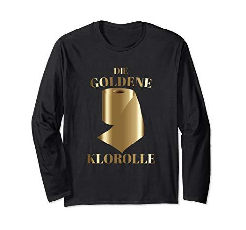 Die goldene Klorolle | Witzige Toilettenpapier Geschenkidee Langarmshirt