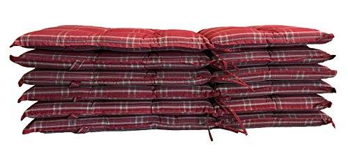 GRASEKAMP Qualität seit 1972 6 Stück Auflagen Rubin Kissen Polster Klapp-Sessel Garten-Stuhl