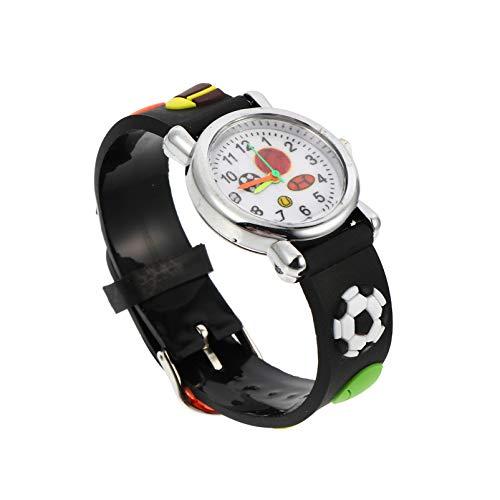 ibasenice Relojes con Dibujos Animados en 3D para Niños Relojes Punteros Deportivos de Fútbol de Silicona Relojes de Pulsera Deportivos para Niños Relojes de Pulsera de Tiempo para