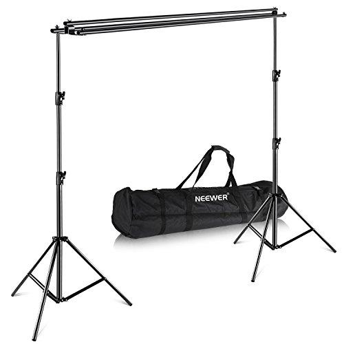 Neewer dreifach Hintergrund StützungsSystem mit Tragetasche - Maximal 3 * 3,6 Meter (Höhe*Breite) für Fotografie Muslin, Papier und Canva Kulisse für Foto Video Studio Aufnahmen