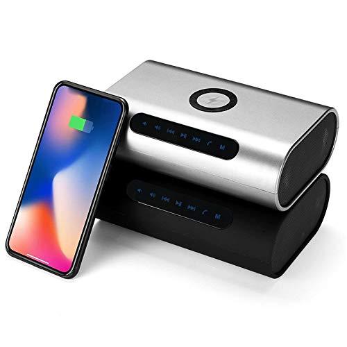 Haut-parleurs Portables pour stéréo et Bas Haute fidélité Casque de réduction du Bruit avec Power Bank Chargeur sans Fil Portable 2 en 1 Bluetooth Haut-Parleur stéréo