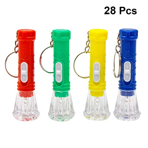 Uonlytech Mini Linterna Led Llavero Linterna 28Pcs Linterna Portátil para Suministros de Huracanes Camping Senderismo Fiesta Emergencia Caza