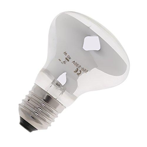 FLAMEER Lámpara de Calefacción por Infrarrojos con Calentador Infrarrojo para Reptiles de 220 Voltios para Reproducción de Reptiles Blanco - 40w