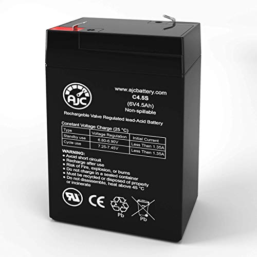 HKbil 3FM4.5 6V 4.5Ah Sealed Lead Acid Battery - This is an AJC Brand Replacement