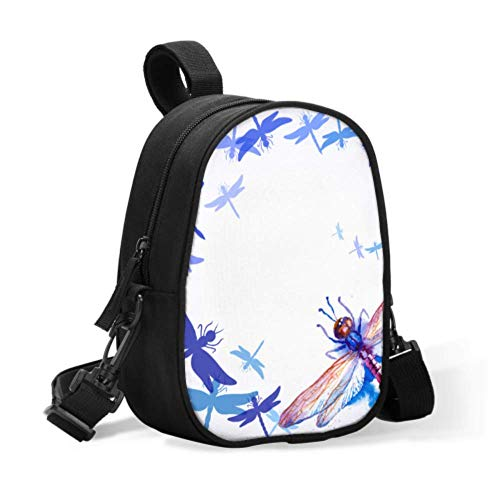 Breastmilk Bottle Cooler Bag Beautiful Watercolor Flying Violet Blue Dragonflies Baby Bottle Cooler Bags Cooler Lunch Bags Easily Attaches to Stroller for Travel Baby Bottle Warmer Or Cool