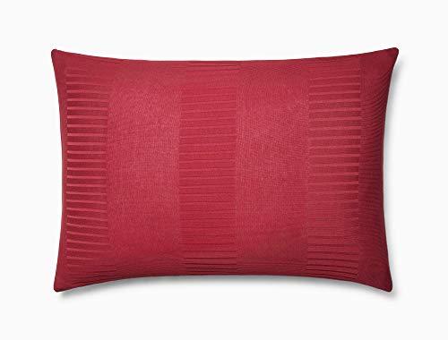 Calvin Klein Home Steve Bettbezug, Baumwolle, für Doppelbetten, Burgunderrot Standard burgunderfarben