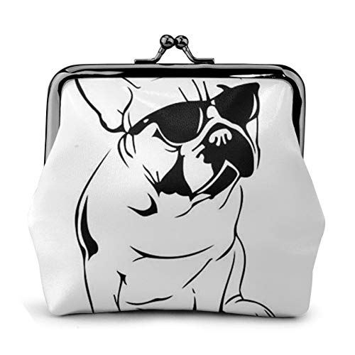 antcreptson Frenchie French Bulldog Buckle Coin Purses Pouch Kiss-Lock Clasp Closure Change Wallets Gifts for Women